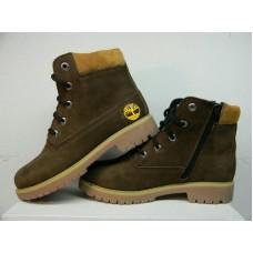 Обувайка - Подростковые кожаные ботинки Timberland. Украина 202 корич 331497d6d1d14