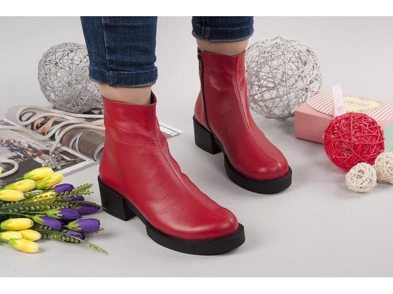 fde58489 Обувайка. Женские кожаные ботинки Shens. Украина. 7438